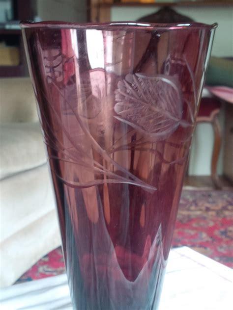 Burgundy Glass Vase by Antique Burgundy Glass Vase Antique Appraisal Instappraisal