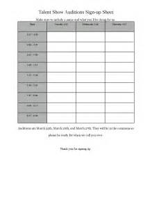 Sign In by Talent Show Sign Up Sheet By Acaastudentcouncil