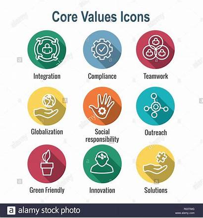 Core Values Icon Integrity Purpose Line Conveying