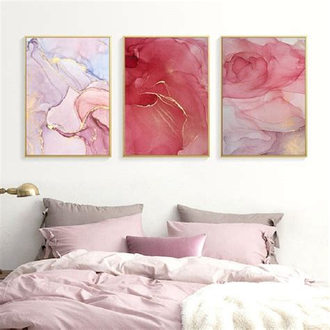 Wall tapestries are lightweight, durable and portable. Pink Rose Gold Marble Wall Art Modern Elegant Fine Art Canvas Prints - NordicWallArt.com