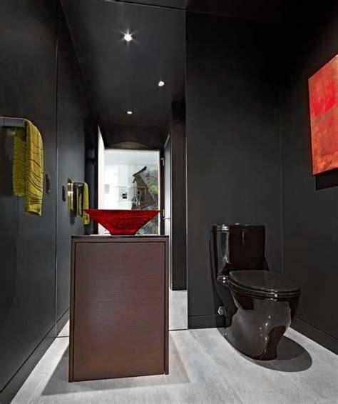 bathroom with black toilet black bathroom fixtures and decor keeping modern bathroom design elegant