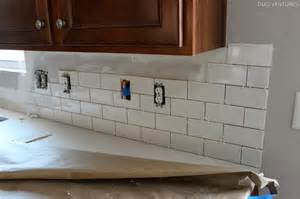 installing subway tile backsplash in kitchen duo ventures kitchen makeover subway tile backsplash installation