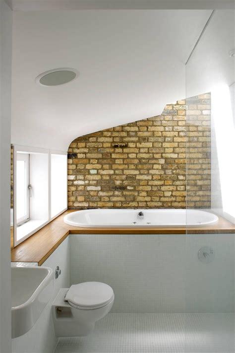 cool bathrooms  brick walls  ceilings interior god
