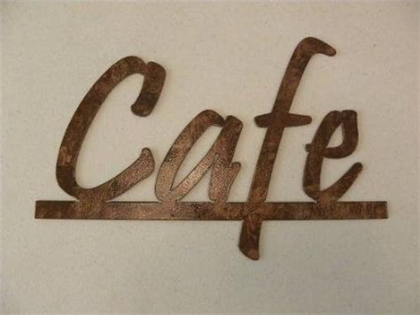handmade cafe word kitchen and home decor metal wall art