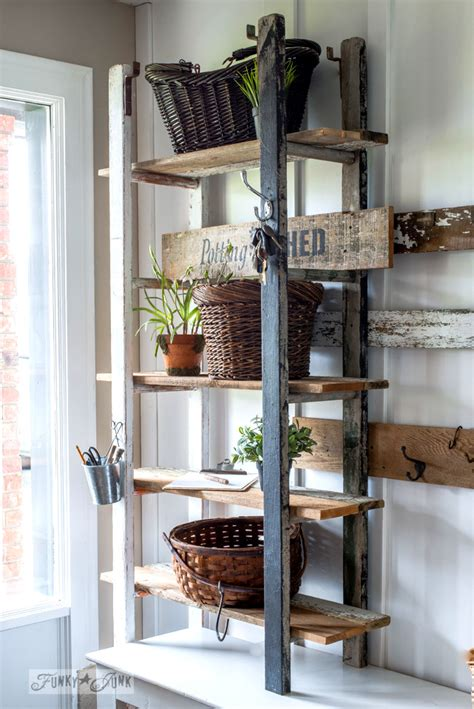 quirky  ladder shelving   entryfunky junk interiors