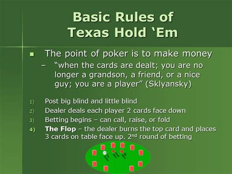 Mathematics And The Game Of Poker  Ppt Download