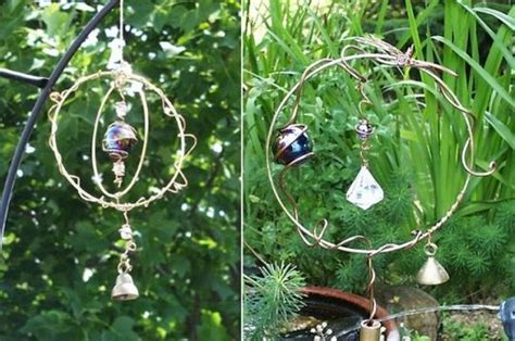 Wire & Copper Art-wire Hoop Suncatcher And Stake
