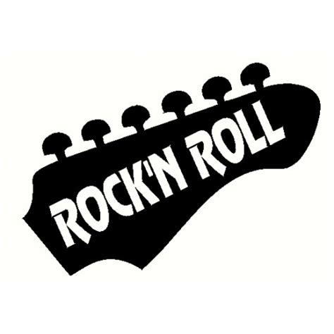 Guitar Rock'n Roll Decal