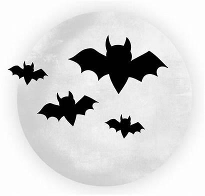 Halloween Moon Bats Clipart Transparent Clip Bat