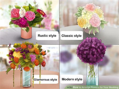 arrange flowers   wedding  pictures