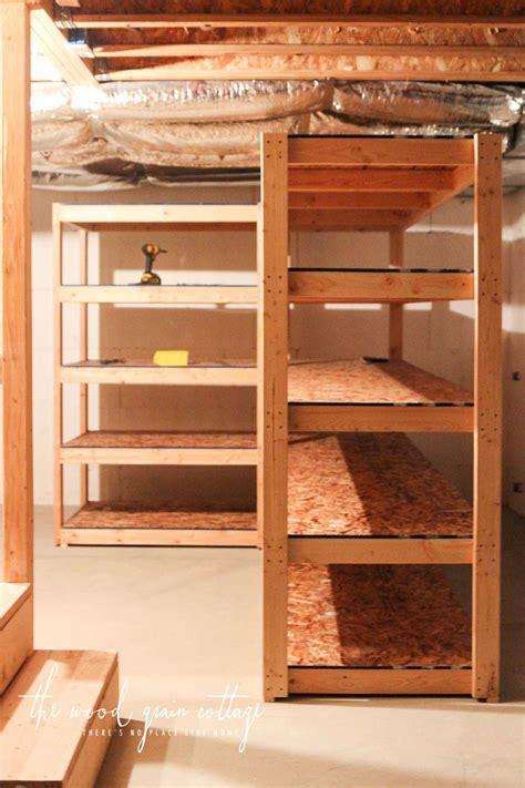 diy basement shelving basement shelving basement
