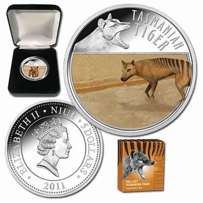 Tasmanian Tiger Coin Mint Downies Last Silver