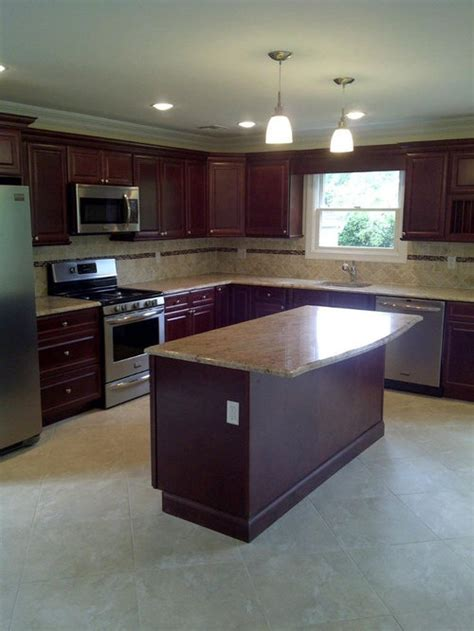 cherry kitchen cabinets ideas pictures remodel  decor