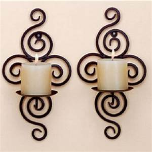 Candle holder wall hanging sconce furnishing articles