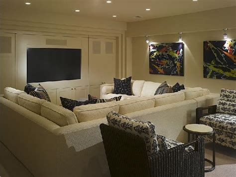 house plans with media room pit sectional contemporary media room