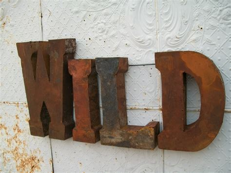 rustic letters for wall rustic 37 quot 3d metal sign trade sign indoor or