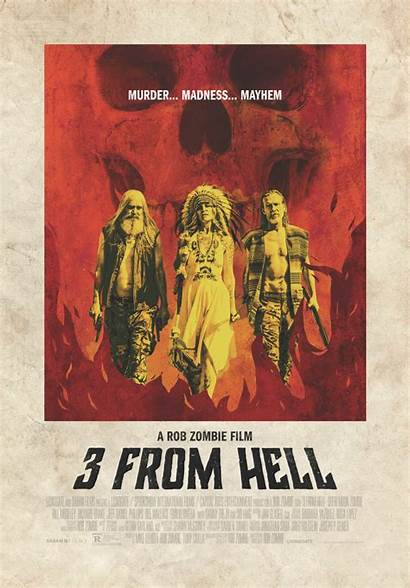 Hell Poster Zombie Rob Rejects Devil Three