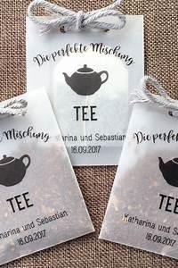 Gastgeschenke Hochzeit Diy : 10 t ten f r teemischungen als gastgeschenk ideen f r die hochzeit die hochzeit und ~ Frokenaadalensverden.com Haus und Dekorationen