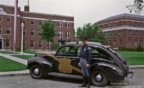 incredible colorized   american police cars