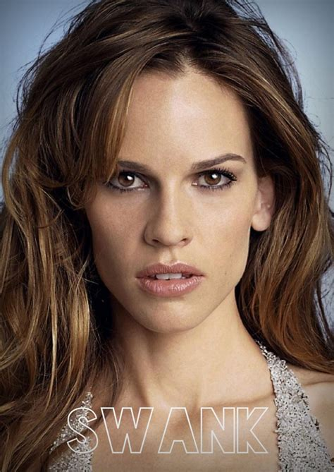 actress with long thin face hillary swank actrices pinterest shape oblong face