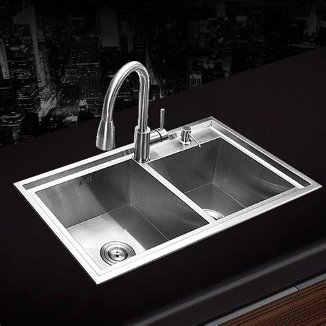 cheap double kitchen sink 780 430 220mm 304 stainless steel undermount kitchen
