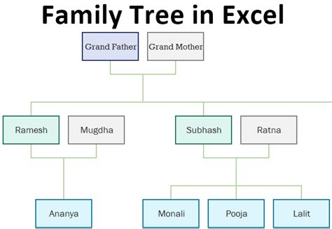 family tree  excel creating  family tree template
