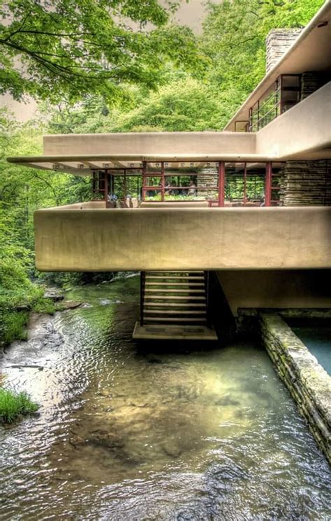 interior home design living room fallingwater house by frank lloyd wright
