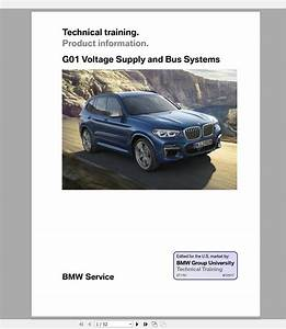 Bmw X3  G01  2018 On Technical Training