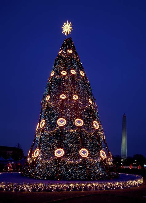 usa national christmas tree  stock photo public