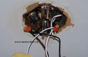 Comment Installer Un Lustre : la pose d 39 un plafonnier de chambre ~ Dailycaller-alerts.com Idées de Décoration