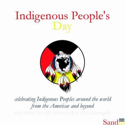 Indigenous Peoples National Around Celebrating Americas Happy