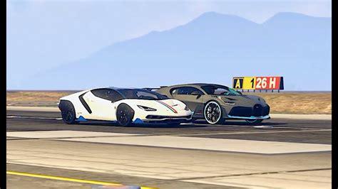 Part 1 100ts of supercars arriving to miami beach concours,supercar show. Bugatti Divo vs Lamborghini Centenario - Drag Race - YouTube
