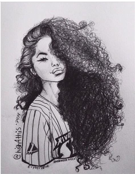Girl Hair Drawing Drawn Girl Curly Hair Pencil And In Color Drawn Girl