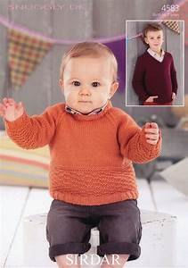 boys neck and v neck sweaters in sirdar snuggly dk