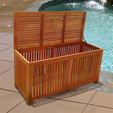 Sams Club Small Deck Box by Shop Vifah 50 In L X 21 In W Rubbed Wood Deck Box At