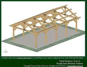 10 X 20 Timber Frame Pavilion Plans