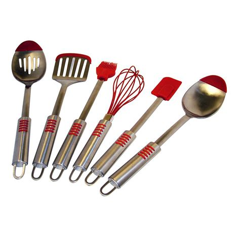 silicone utensil kitchen steel stainless chef tip utensils piece cooking sets tools tool cookware spatula baking overstock nylon kitchenaid dishwasher