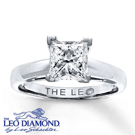 princess cut engagement rings 2 carat leo 2 carat princess cut solitaire 14k white gold ring