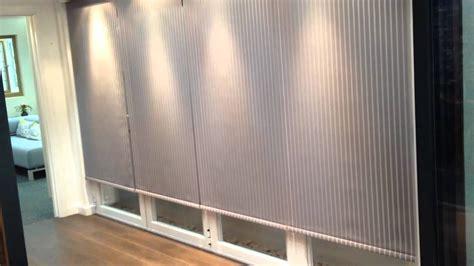 electric bifold door blinds fabric