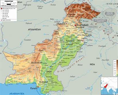 Pakistan Map Physical Maps Asia Ezilon