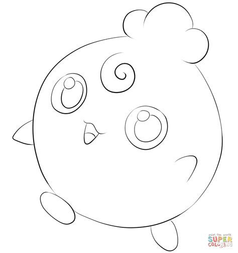 Igglybuff Kleurplaat by Igglybuff Coloring Page Free Printable Coloring Pages