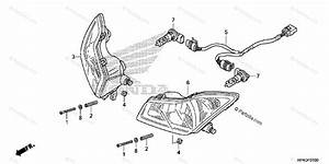 Honda Atv 2013 Oem Parts Diagram For Headlight