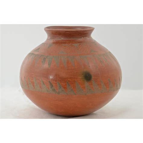 southwestern redware pottery urn chairish