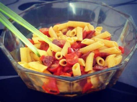 blogs recettes de cuisine recettes de salade de pâtes et chorizo