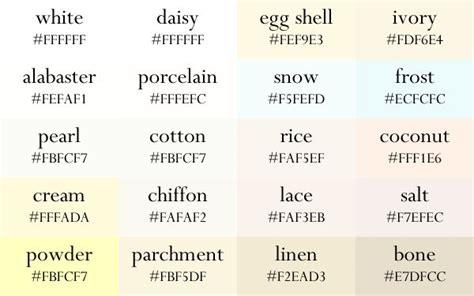 color names   gradient order   color palette