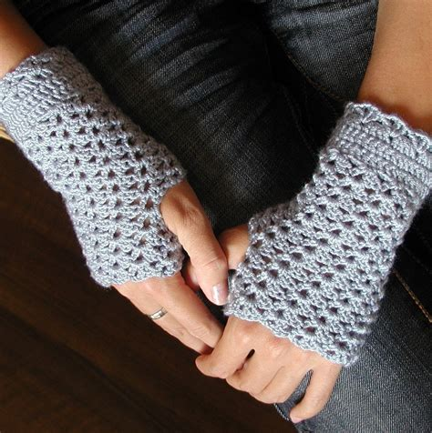 crochet fingerless gloves crocheted fingerless mittens pdf crochet pattern