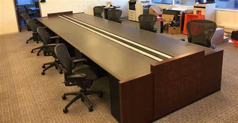 Knight Securities Used Woodtronics Trading Desks
