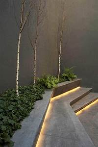 15 attractive step lighting ideas for outdoor spaces for Outdoor step lighting strips