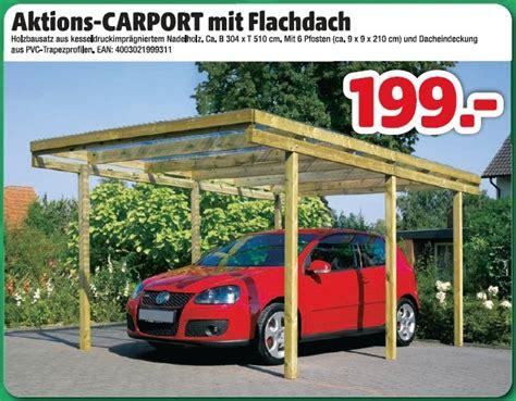 Aktionscarport Mit Flachdach 199,00 € Hagebaumarkt
