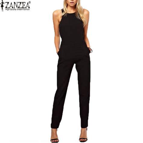 womens casual jumpsuits zanzea brand 2016 summer womens rompers jumpsuit